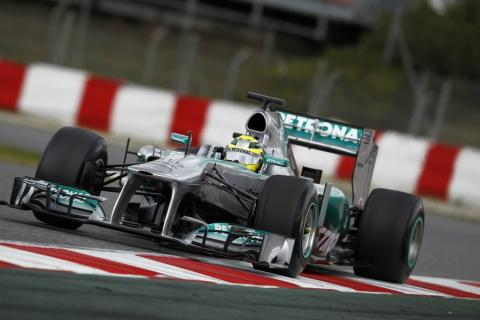 Nico Rosberg Mercedes tests F1 Montmeló 2013