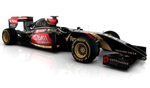 El nuevo Lotus E22 rueda en el circuito de Jerez