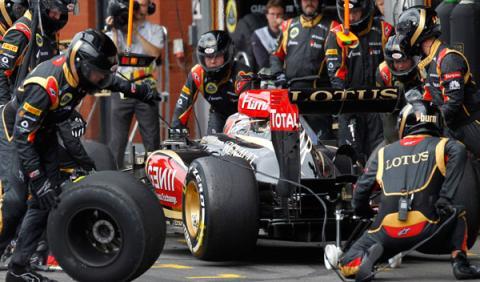 Pit stop Kimi Raikkonen Lotus