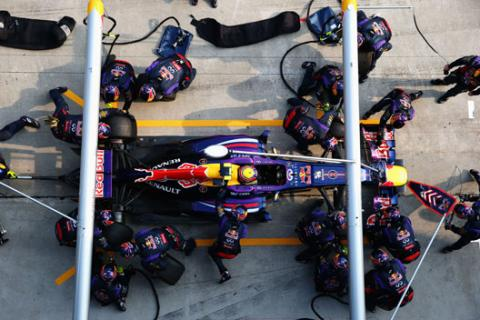 Pit stop record Red Bull Webber Malasia 2013