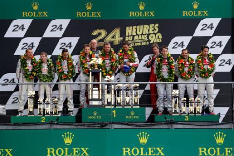 Podio Le Mans 2014