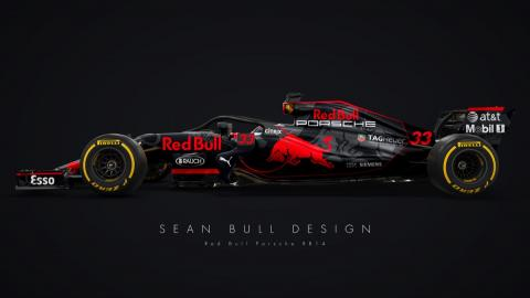 Red Bull Porsche RB14 (Sean Bull)