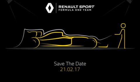 Renault anuncia la fecha de presentación de su F1 2017