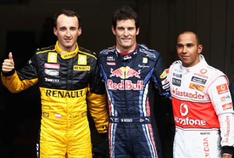 Robert Kubica - Marc Webber - Lewis Hamilton