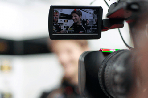 Romain Grosjean - Lotus - TV