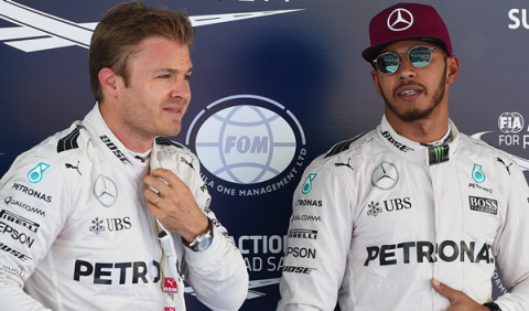 Rosberg y Hamilton: el accidente de Barcelona está olvidado
