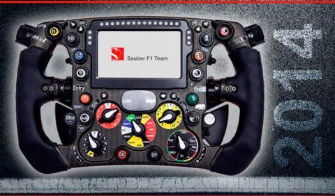 Sauber nos muestra su volante de Fórmula 1 para 2014
