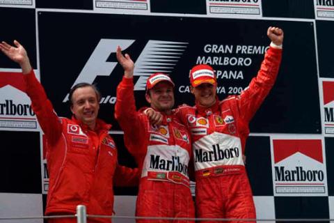 Schumacher - Barrichello - España - 2004