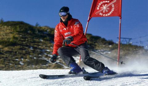Schumacher, practicando el esquí