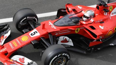 Sebastian Vettel, durante los entrenamientos del GP Gran Bretaña