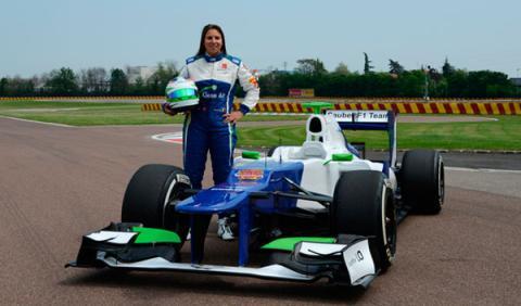 Simona de Silvestro completa su primer tests con Sauber