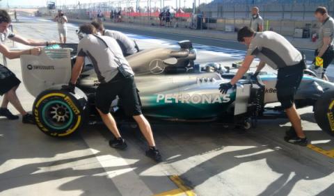 Tests de F1 Bahrein 2014, abril. Rosberg también gana aquí