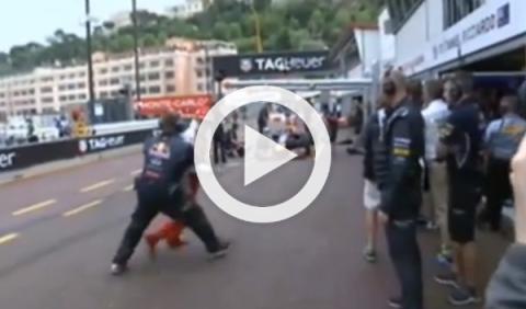 Vettel casi atropella a Räikkönen en Mónaco