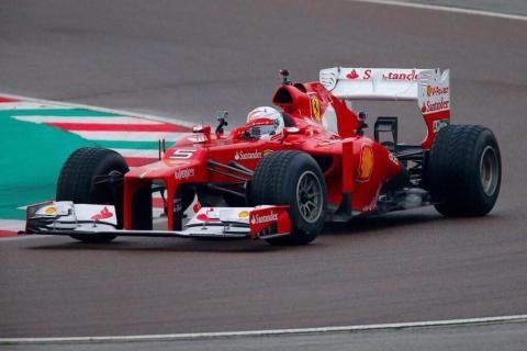 Vettel ya ha probado su primer Ferrari
