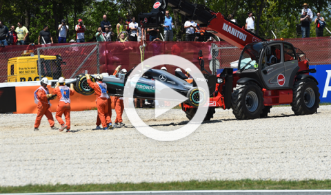 Vídeo: accidente de Rosberg y Hamilton en el GP España