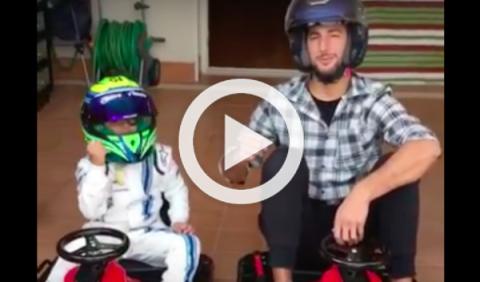 Vídeo: la carrera entre Ricciardo y el hijo de Massa