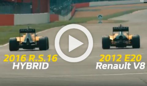 Vídeo: Renault F1 2016 vs Renault F1 2012, ¡espectacular!