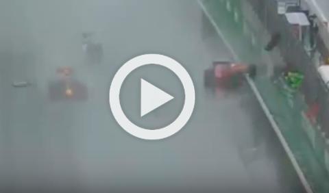 Vídeo: el terrorífico accidente de Räikkönen en Brasil