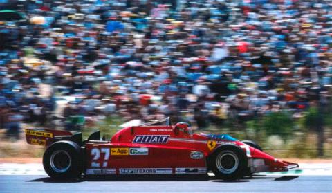 Villeneuve - Ferrari - GP Espana - Jarama - 1981