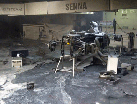 Williams - GP Espana - Incendio
