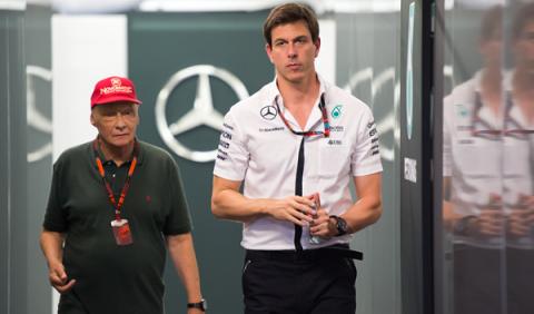 """Wolff: """"¿Mercedes fuera de la F1? Jordan se pasó de fiesta"""""""