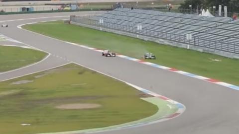 Accidente de un Jaguar F1 de 2005 en Assen