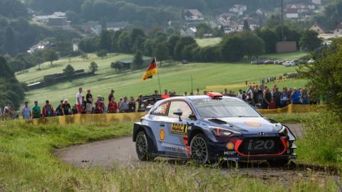 Dani Sordo, en el Rally de Alemania 2017