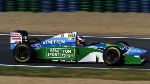 Michael Schumacher, al volante del Benetton F1 B194 de 1994