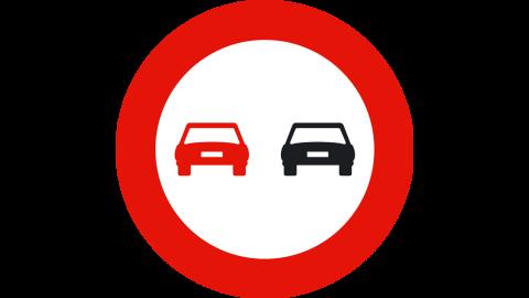 Señal prohibido adelantar
