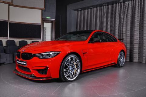 BMW M4 pintado en rojo Ferrari
