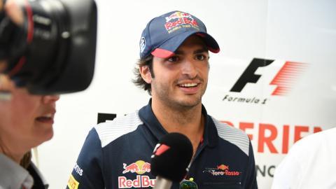 Carlos Sainz, en el GP italia F1 2017