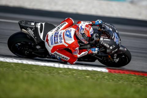 Casey Stoner participa en un test privado de Ducati en Valencia