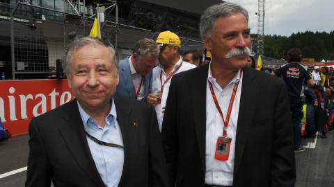 Chase Carey y Jean Todt