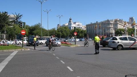 Cortes tráfico Madrid
