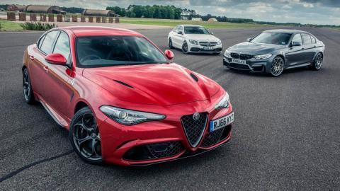 Drag Race: BMW M3, Alfa Romeo Giulia QV, Mercedes-AMG C63S