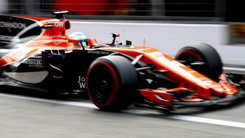 Fernando Alonso, en el GP Italia 2017
