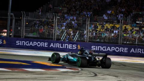 Mercedes, en el GP Singapur 2017