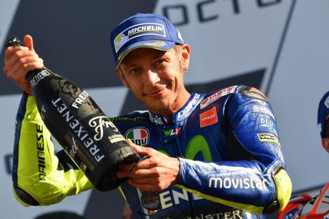 Roban una radiografía de la pierna lesionada de Valentino Rossi