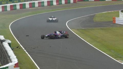 Accidente de Carlos Sainz en Japón