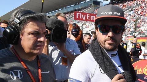 Alonso en la parrilla del GP Japón 2017