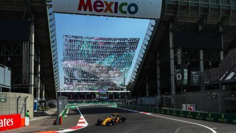 Carlos Sainz en el GP México 2017