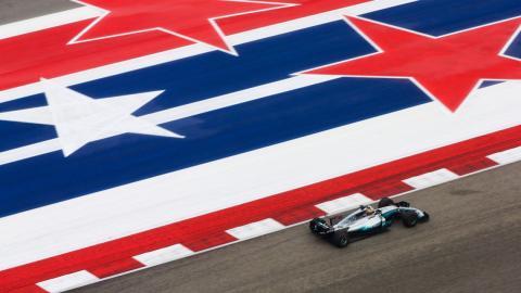 Lewis Hamilton, en el GP EEUU F1 2017