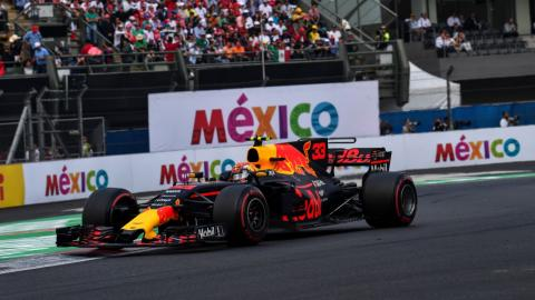 Max Verstappen, en el GP México 2017