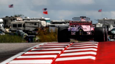 Sergio Pérez en el GP F1 EEUU