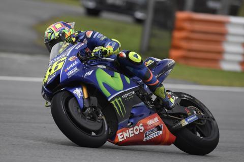 Yamaha vuelve a fallar en una carrera en mojado