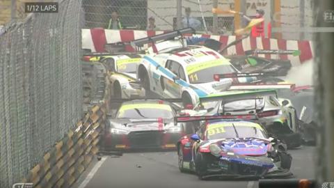Accidente salida GP Macao 2017