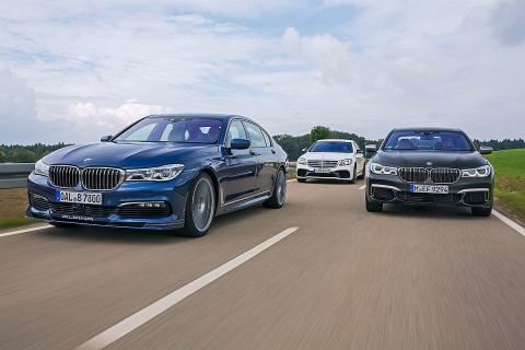 Alpina B7 Biturbo vs BMW M760iL y Mercedes-AMG S 63
