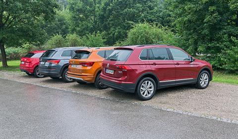 Audi Q2 vs Seat Ateca vs Volkswagen Tiguan vs Skoda Kodiaq