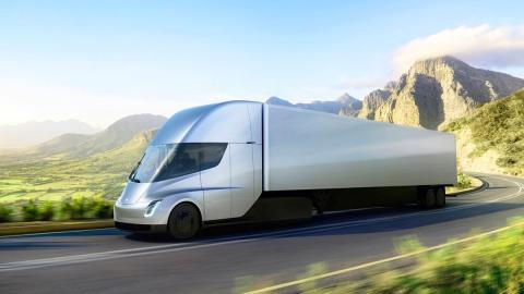 Camión eléctrico de Tesla transporte