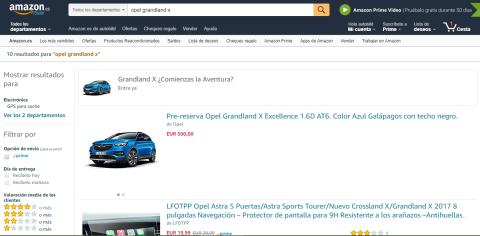 Cómo comprar un coche por Amazon